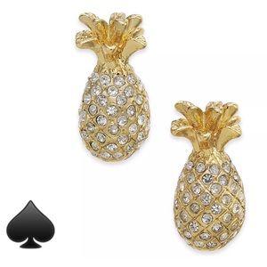NWT-Kate Spade Pave Pineapple Stud Earrings